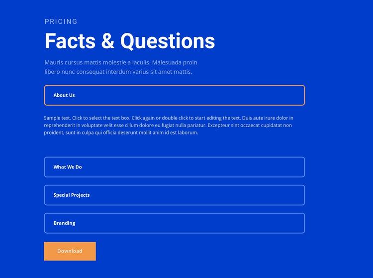 Questions Website Builder Templates