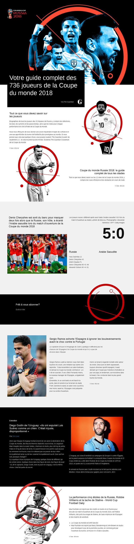 Coupe du monde 2018 Modèle de site Web