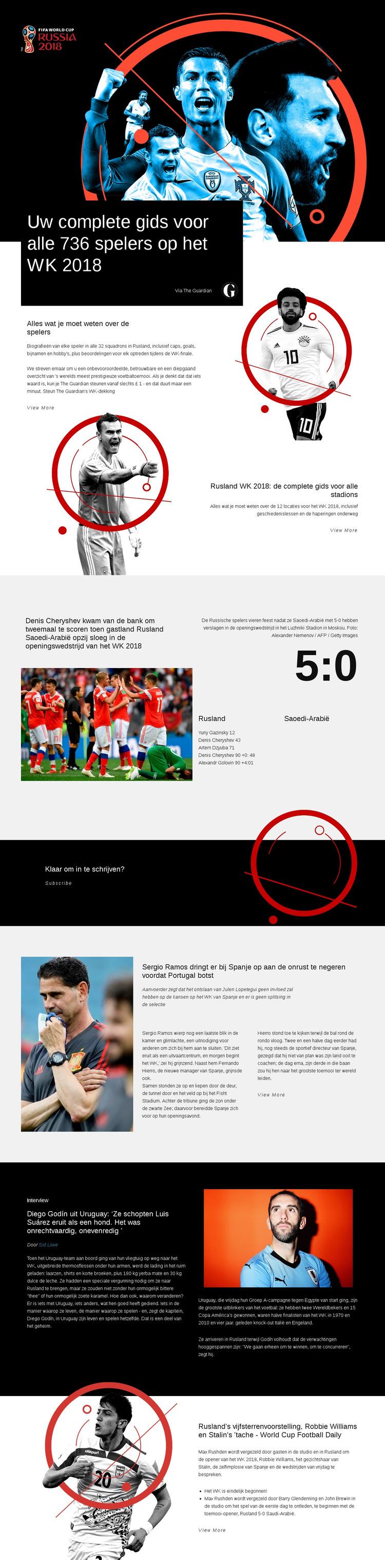 WK 2018 Website sjabloon