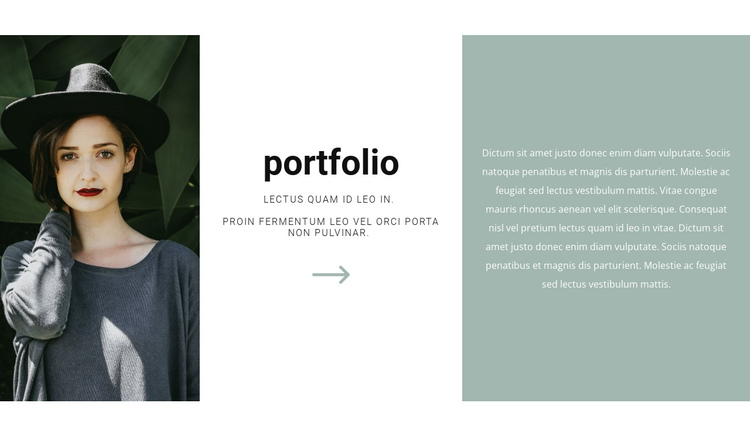 Studio photographer portfolio One Page Template