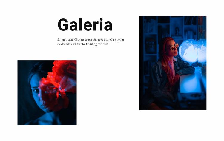 Galeria ze zdjęciami neonów Szablon Joomla