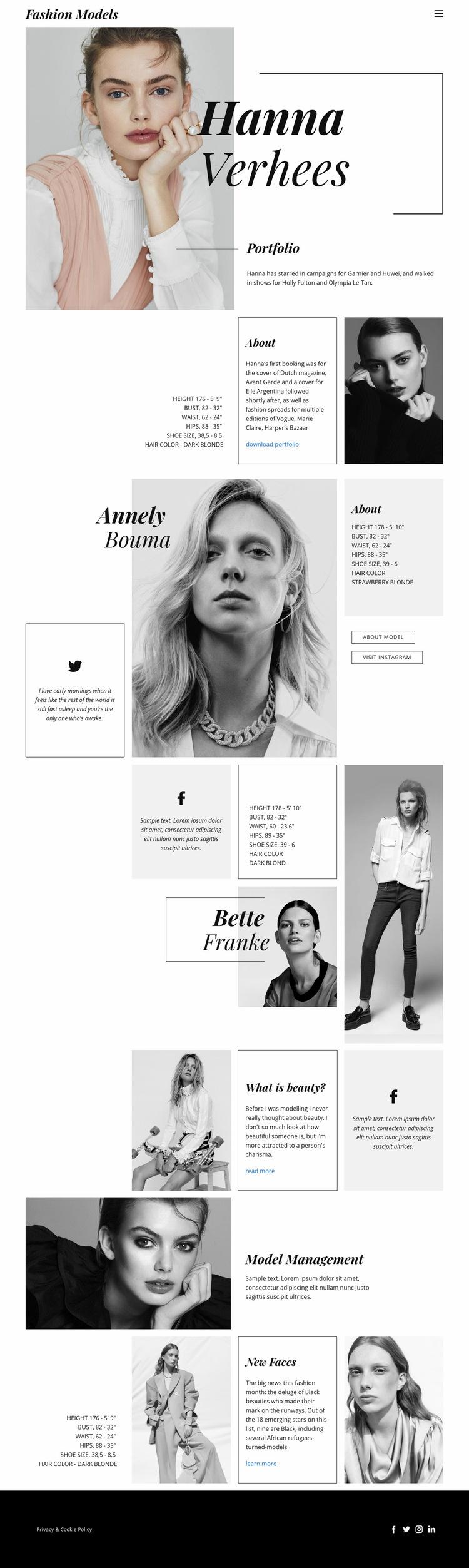 Hanna Verhees Blog Web Page Design
