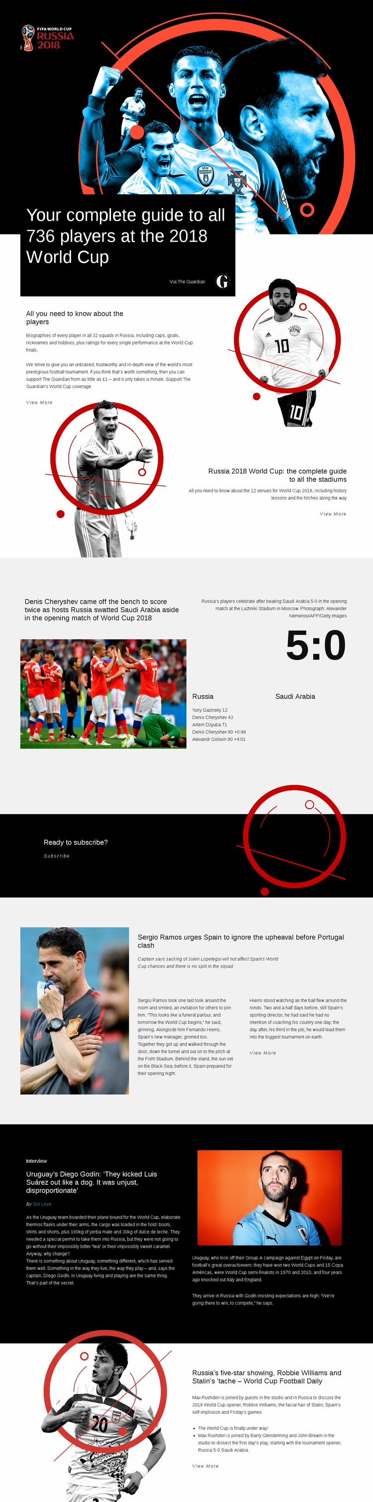 World Cup 2018 Web Page Design