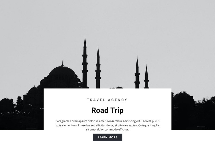 Travel to Eastern countries HTML Template