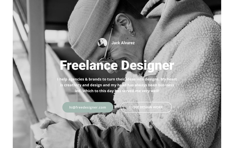 High level designer HTML5 Template
