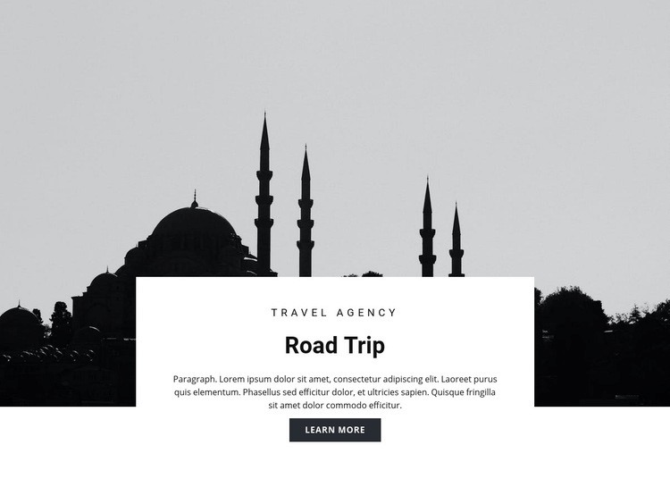 Travel to Eastern countries Web Page Design