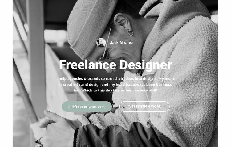 High level designer Web Page Design