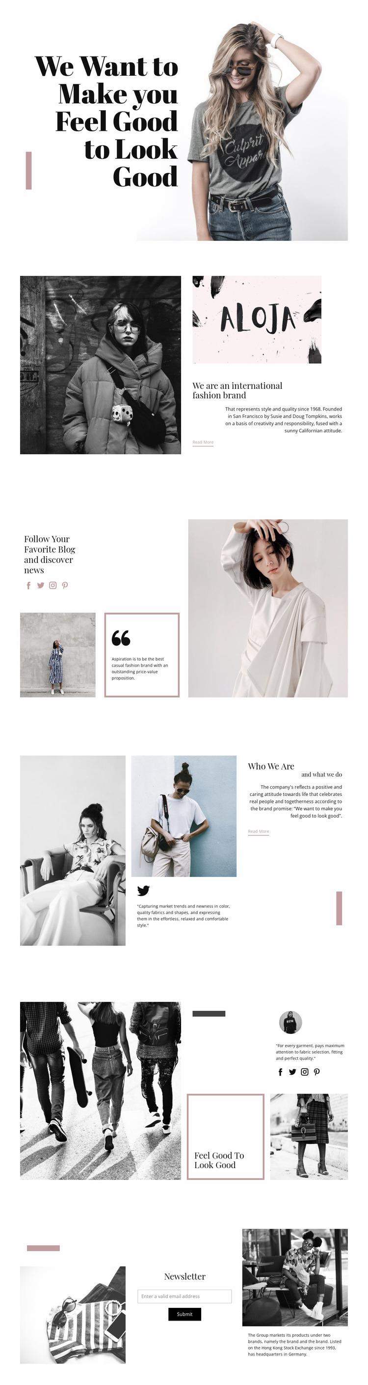 Fashion Style Website Mockup