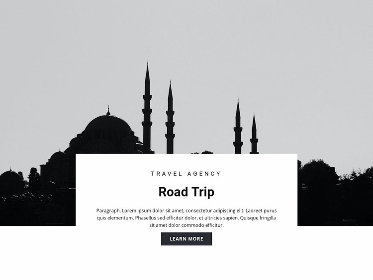 Travel to Eastern countries Website Mockup