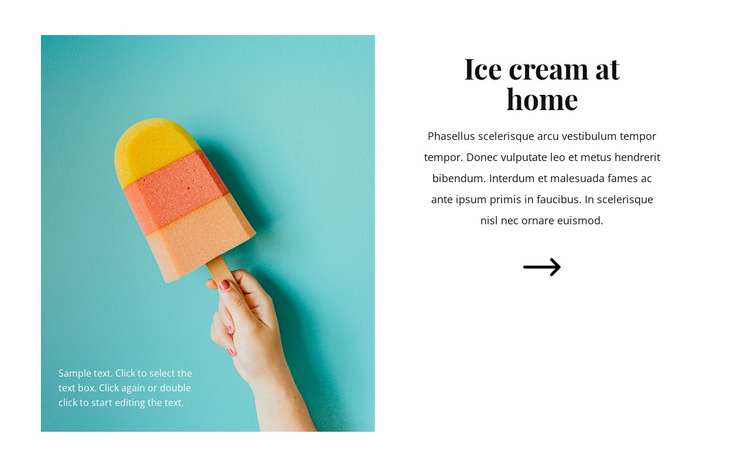 Ice cream at home Website Template
