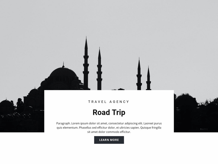 Travel to Eastern countries Website Template