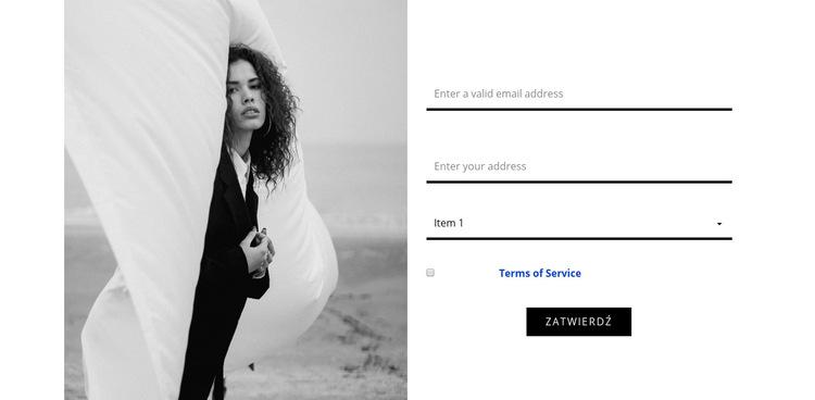 Kontakty naszego studia mody Szablon witryny sieci Web