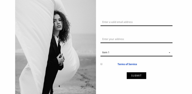 Contacts of our fashion studio Website Design