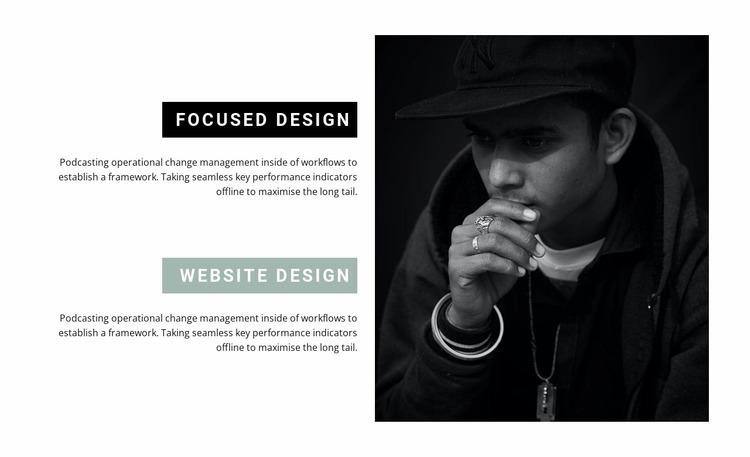 Directions in web design Website Mockup