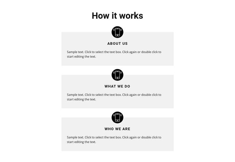 How our work goes Joomla Template