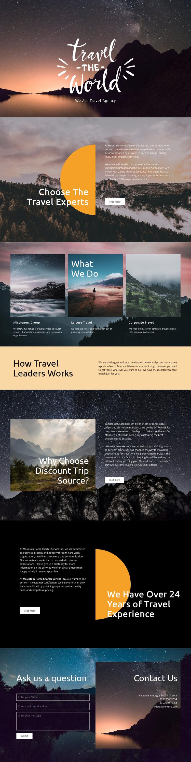 Exploring new places Joomla Template