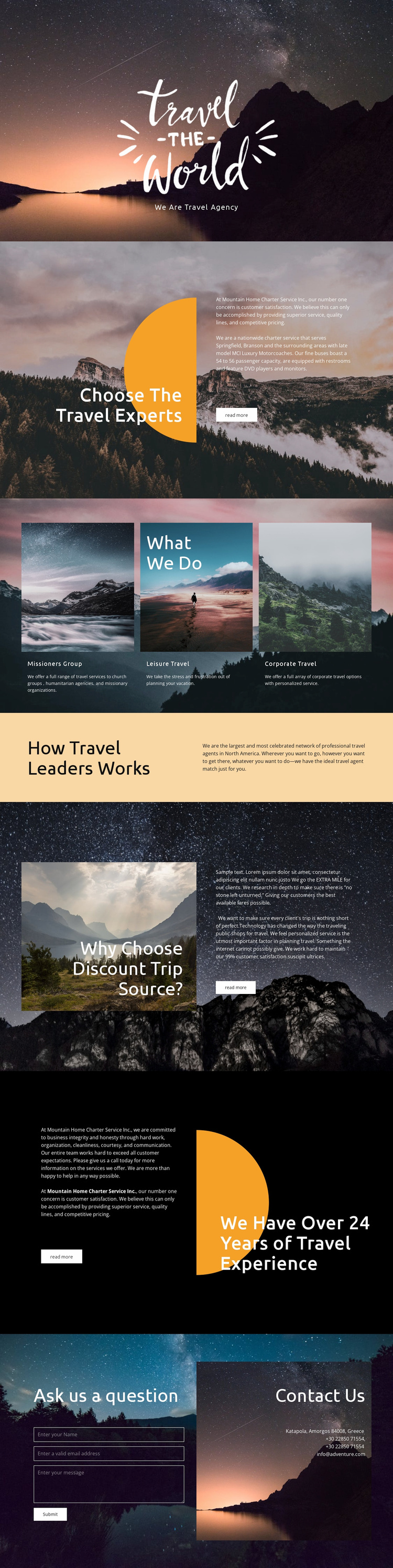 Exploring new places Website Template