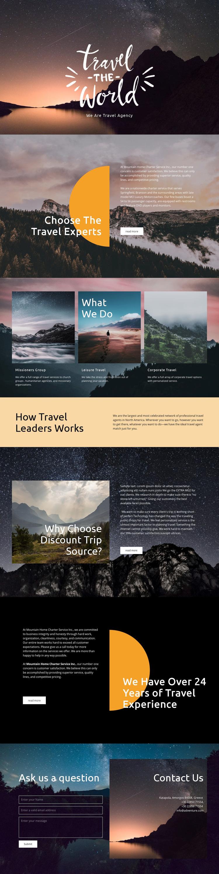 Exploring new places WordPress Website