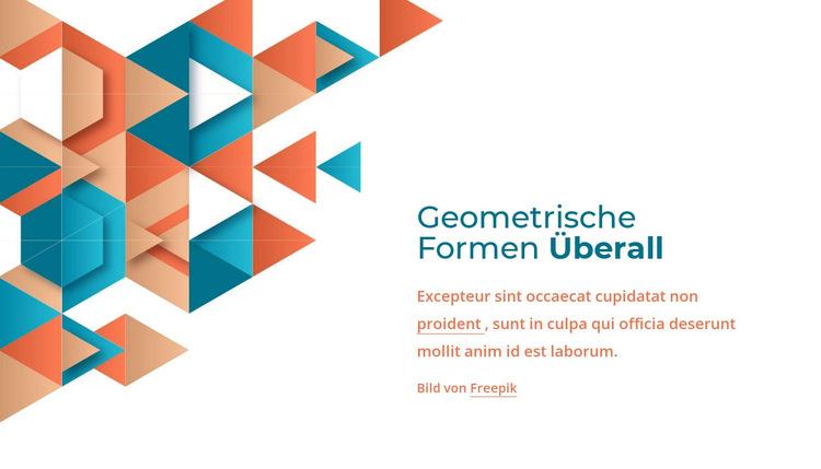 Überall geometrische Formen Website-Vorlage