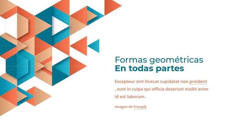 Formas geométricas por todas partes Plantilla de sitio web