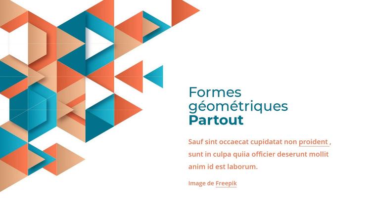 Des formes géométriques partout Modèle de site Web