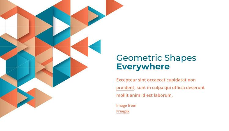Geometric shapes everywhere HTML Template