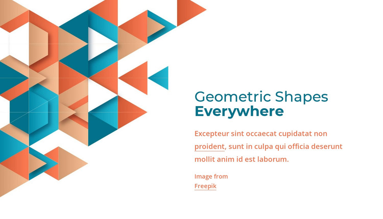Geometric shapes everywhere HTML5 Template