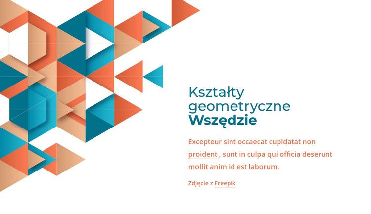 Wszędzie kształty geometryczne Szablon witryny sieci Web