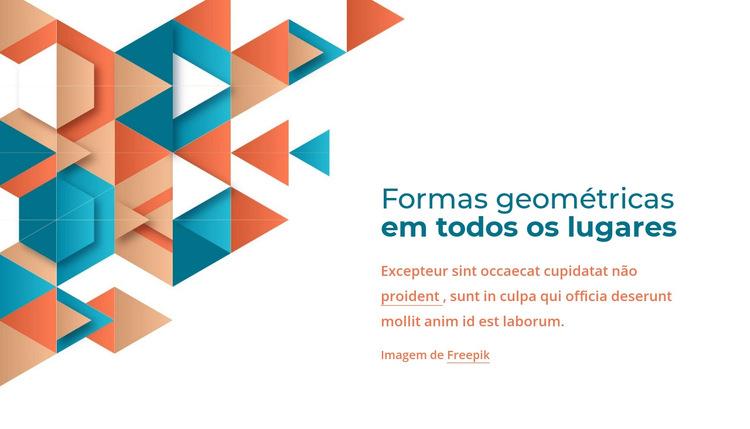 Formas geométricas em todos os lugares Modelo de site