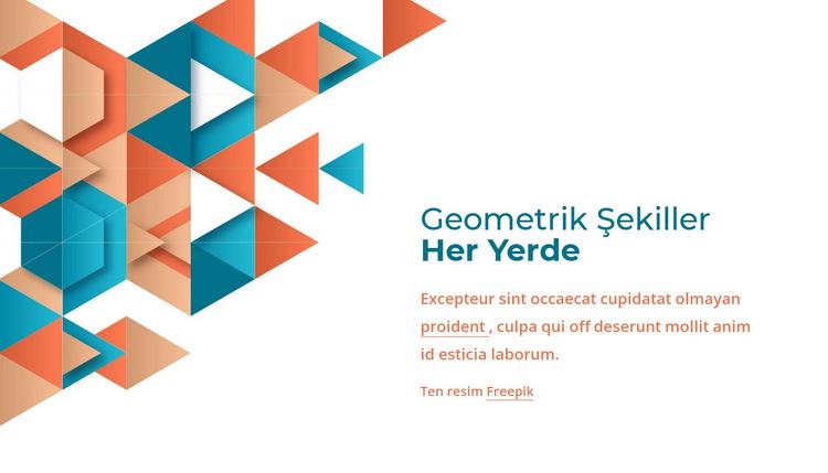 Her yerde geometrik şekiller Web Sitesi Şablonu