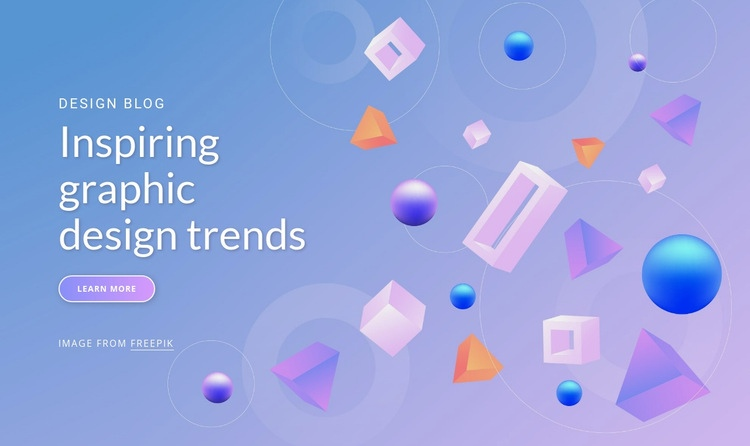 Inspiring graphic design trends Web Page Design