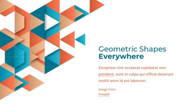 Geometric shapes everywhere Website Builder Software