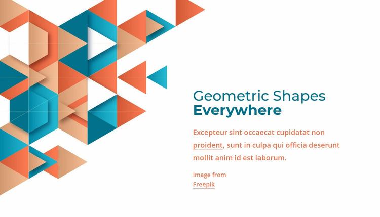 Geometric shapes everywhere Website Mockup