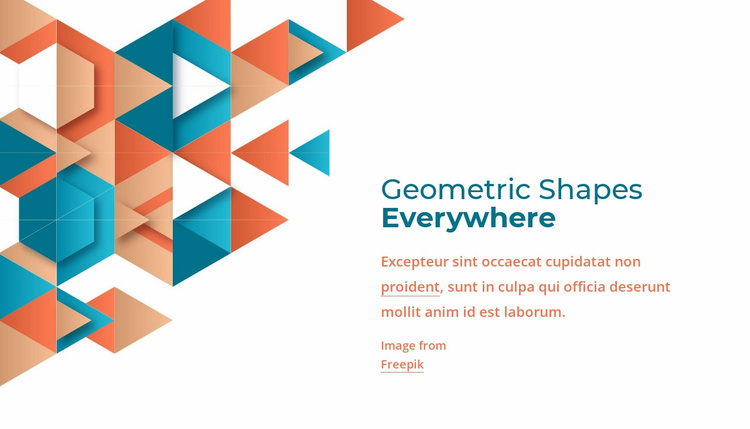 Geometric shapes everywhere Landing Page