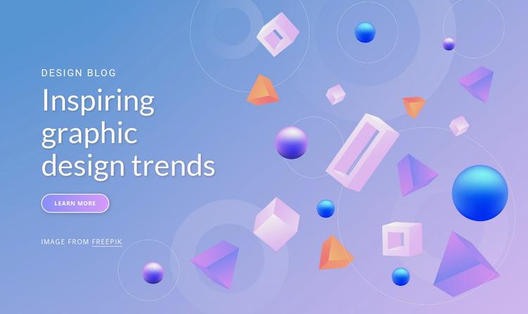 Inspiring graphic design trends Website Template