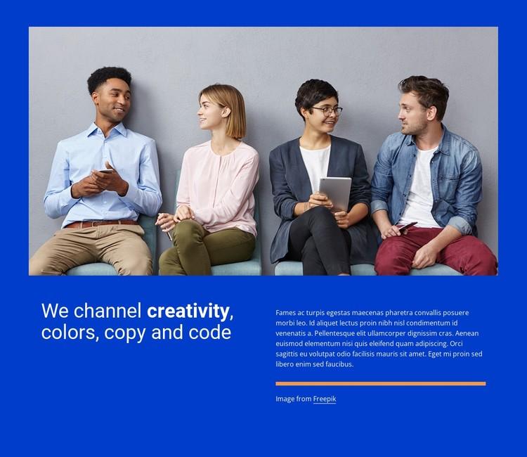 We channel creativity Static Site Generator