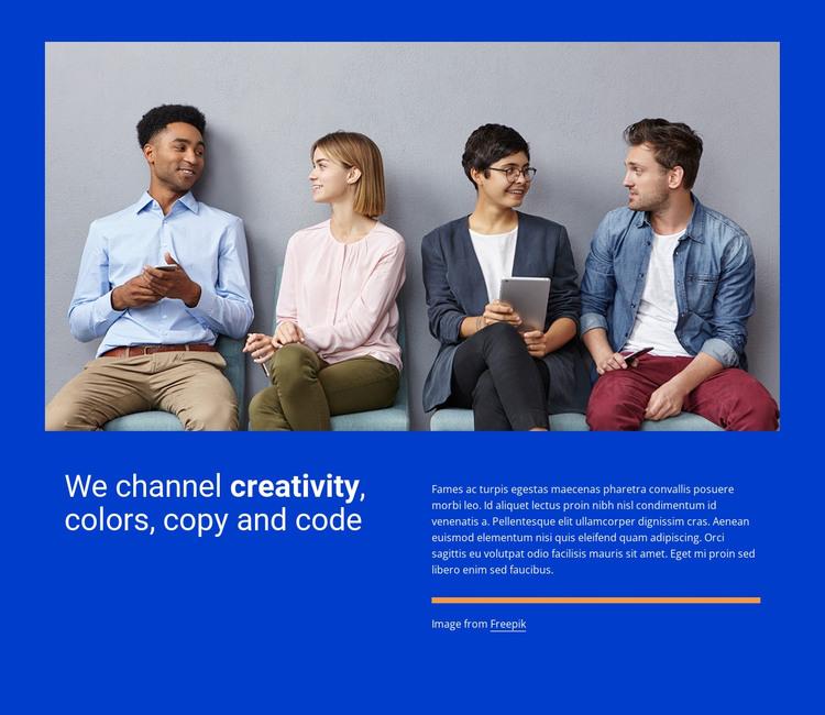 We channel creativity WordPress Theme