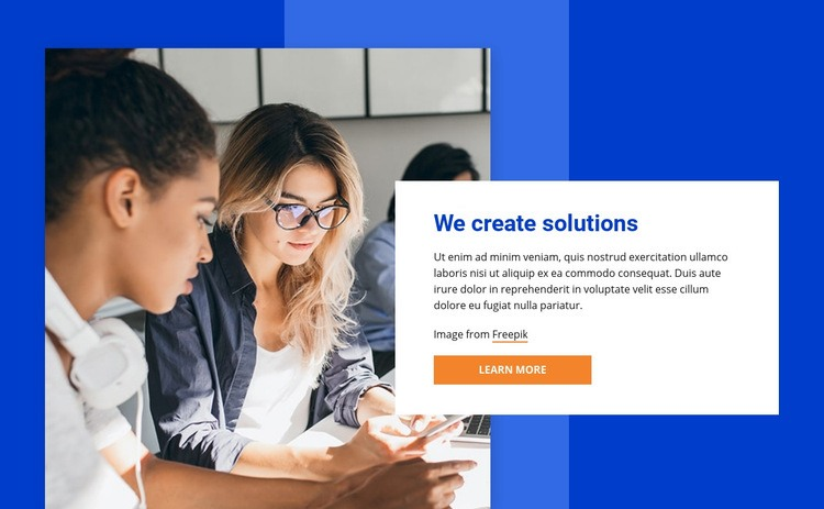We create innovations Web Page Design