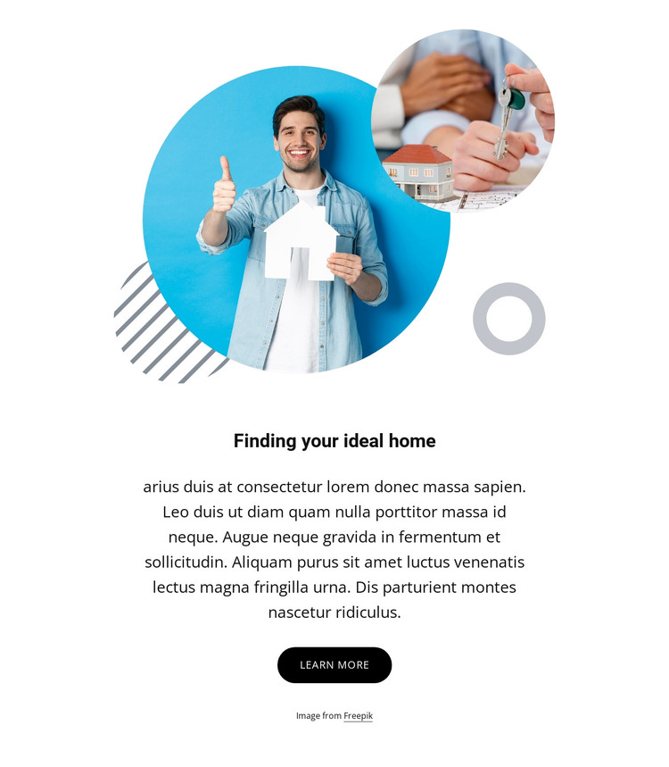 Finding your ideal home HTML Template