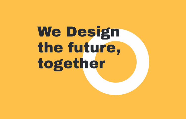 We design the future together Website Template