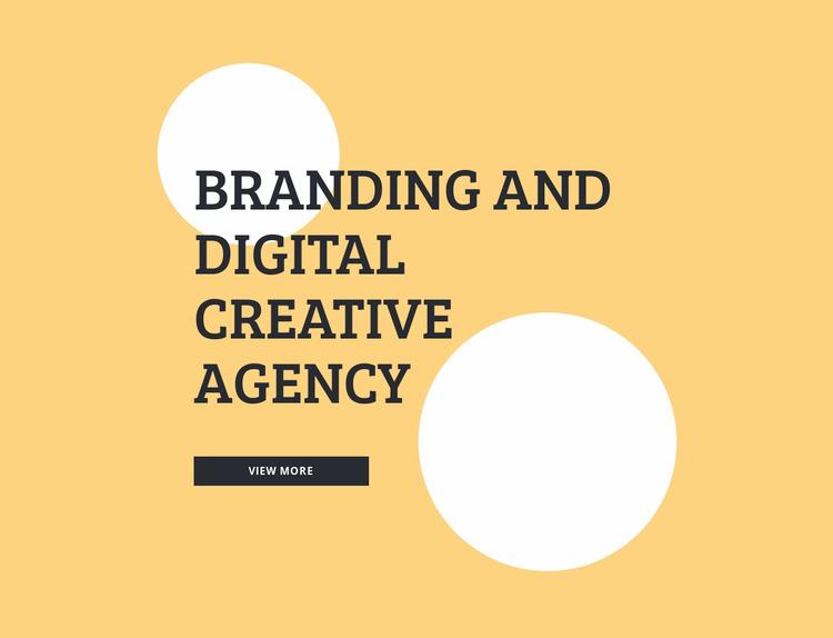 Branding and digital creative agency WordPress Website Builder