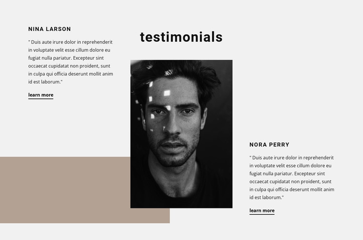 Impressions of working with us HTML Template