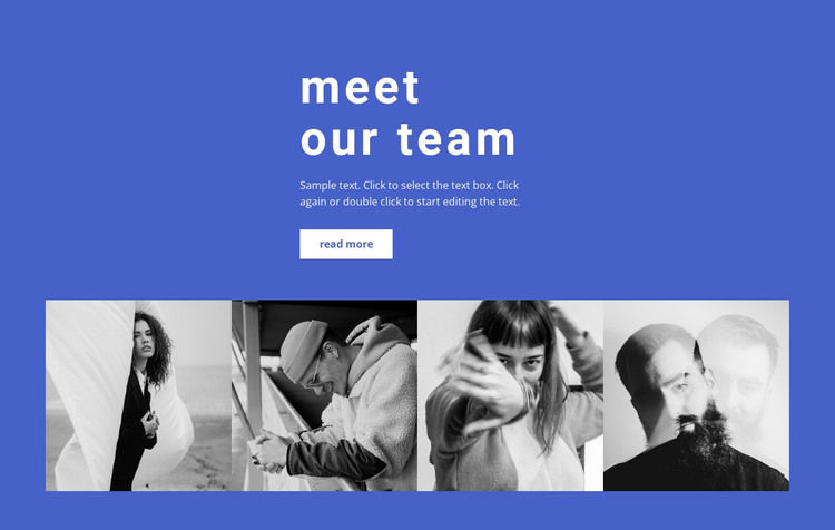 Gallery with our employees HTML Template