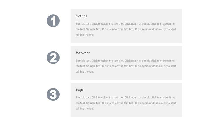 Our three advantages Joomla Template
