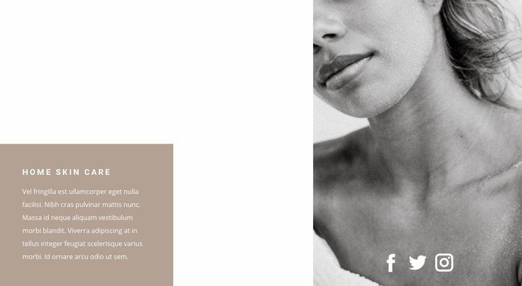 Home skin care Web Page Design