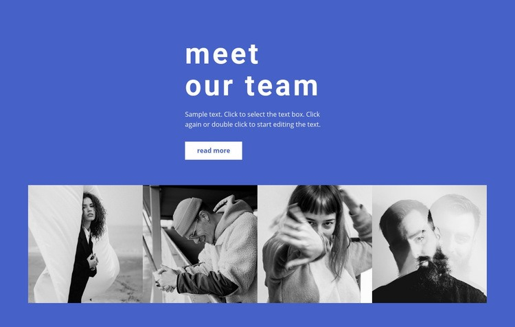 Gallery with our employees Web Page Design