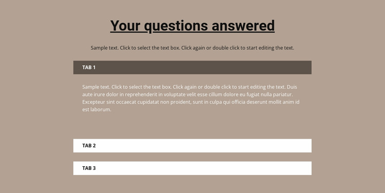 Your popular questions Website Template