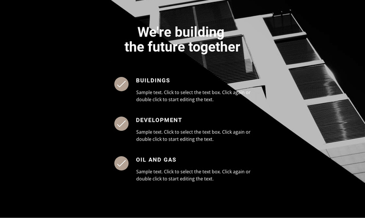 Build houses with professionals Website Template