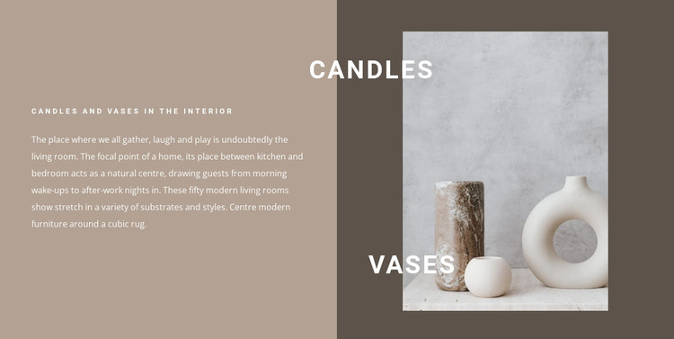 Candles and vases in the interior WordPress Theme