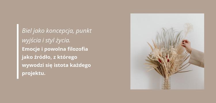 Dekoracje florystyczne Szablon witryny sieci Web